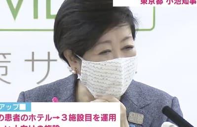 小池百合子の布マスクがかわいい!柄のバリエーションを紹介
